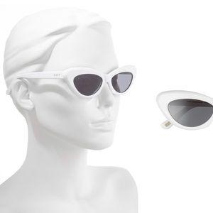 Diff Eyewear Accessories - NWT-DIFF Cleo White Cateye Sunglasses
